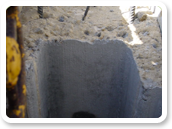 Concrete surfaces with lower contamination than Bentonite